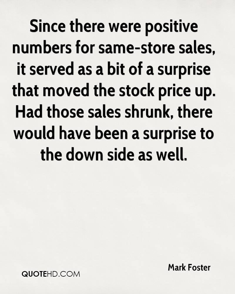Positive Sales Quotes Mark Foster Quotes  Quotehd