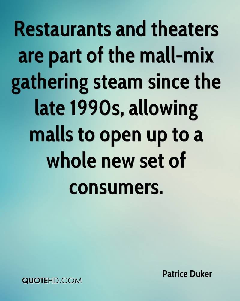 Restaurants and theaters are part of the mall-mix gathering steam since the late 1990s, allowing malls to open up to a whole new set of consumers.