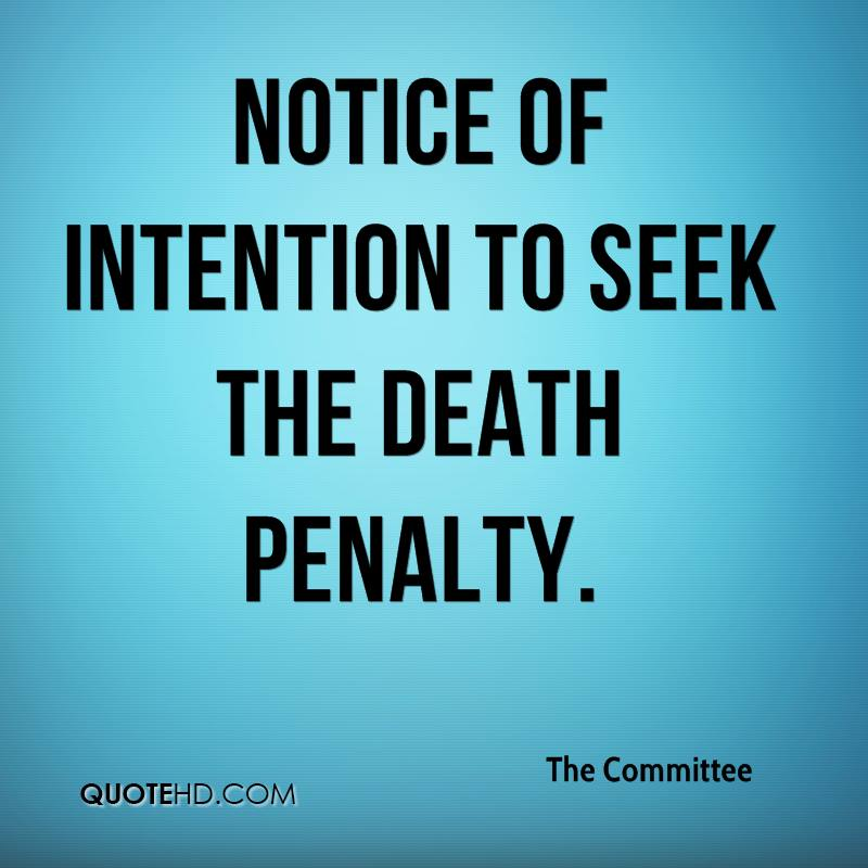 Notice of Intention to Seek the Death Penalty.