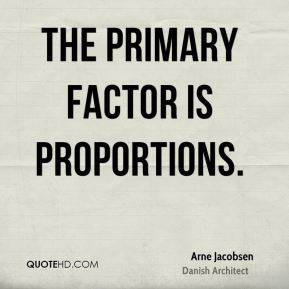 The primary factor is proportions.