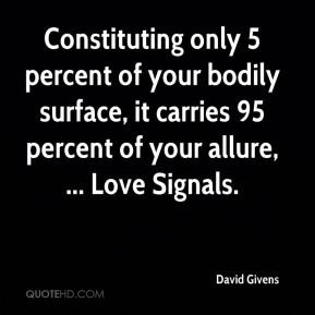 Constituting only 5 percent of your bodily surface, it carries 95 percent of your allure, ... Love Signals.
