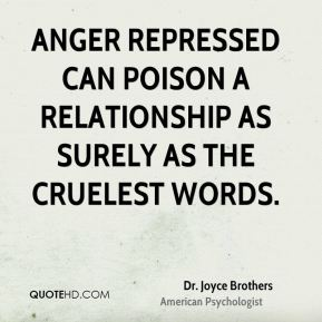 Anger repressed can poison a relationship as surely as the cruelest words.
