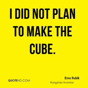 Erno Rubik - I did not plan to make the Cube.