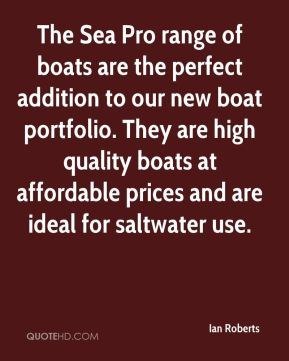 The Sea Pro range of boats are the perfect addition to our new boat portfolio. They are high quality boats at affordable prices and are ideal for saltwater use.