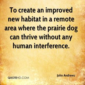 To create an improved new habitat in a remote area where the prairie dog can thrive without any human interference.