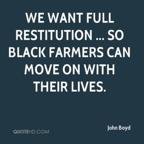 We want full restitution ... so black farmers can move on with their lives.