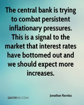 The central bank is trying to combat persistent inflationary pressures. This is a signal to the market that interest rates have bottomed out and we should expect more increases.