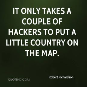It only takes a couple of hackers to put a little country on the map.
