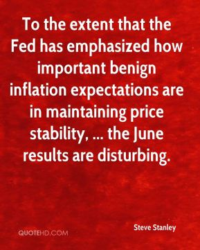 To the extent that the Fed has emphasized how important benign inflation expectations are in maintaining price stability, ... the June results are disturbing.