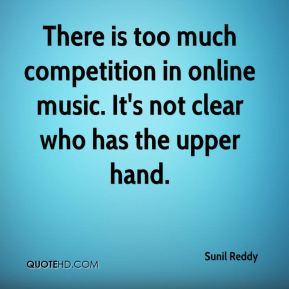 There is too much competition in online music. It's not clear who has the upper hand.