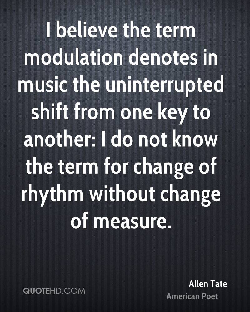 I believe the term modulation denotes in music the uninterrupted shift from one key to another: I do not know the term for change of rhythm without change of measure.