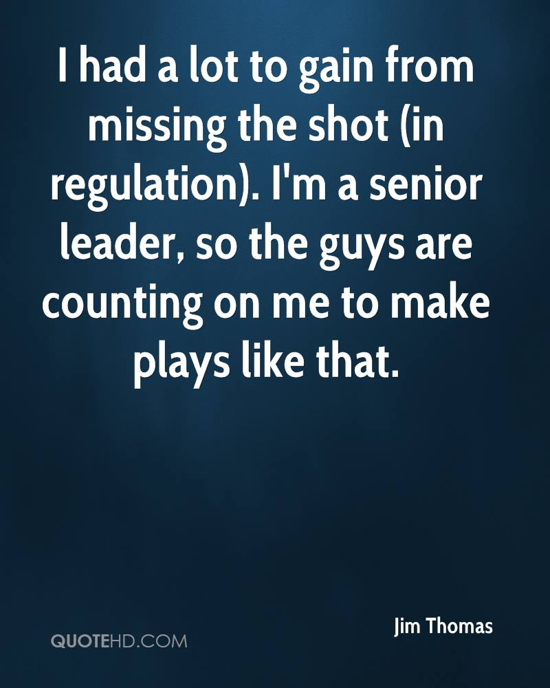 I had a lot to gain from missing the shot (in regulation). I'm a senior leader, so the guys are counting on me to make plays like that.