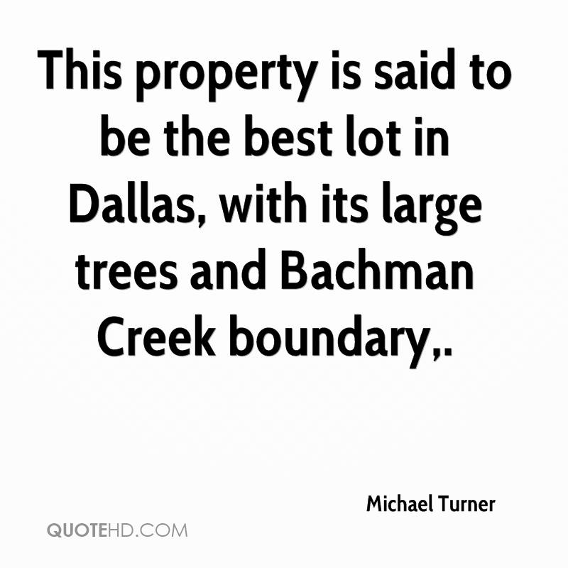 This property is said to be the best lot in Dallas, with its large trees and Bachman Creek boundary.