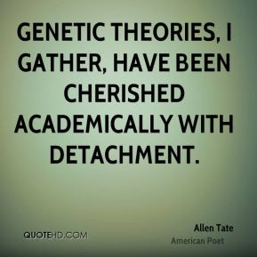 Genetic theories, I gather, have been cherished academically with detachment.