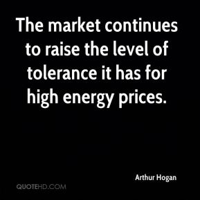 Arthur Hogan - The market continues to raise the level of tolerance it has for high energy prices.