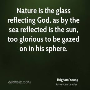 Nature is the glass reflecting God, as by the sea reflected is the sun, too glorious to be gazed on in his sphere.