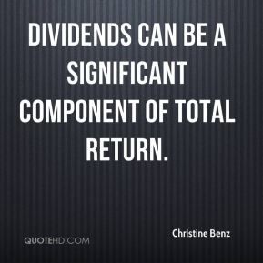 Dividends can be a significant component of total return.