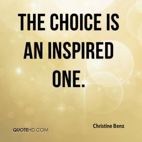 The choice is an inspired one.