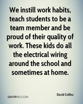 We instill work habits, teach students to be a team member and be proud of their quality of work. These kids do all the electrical wiring around the school and sometimes at home.