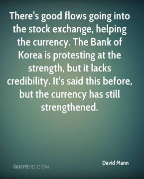 There's good flows going into the stock exchange, helping the currency. The Bank of Korea is protesting at the strength, but it lacks credibility. It's said this before, but the currency has still strengthened.