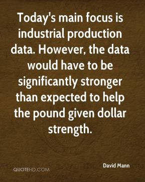 Today's main focus is industrial production data. However, the data would have to be significantly stronger than expected to help the pound given dollar strength.