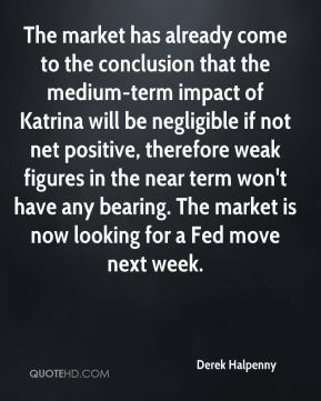 Derek Halpenny - The market has already come to the conclusion that the medium-term impact of Katrina will be negligible if not net positive, therefore weak figures in the near term won't have any bearing. The market is now looking for a Fed move next week.