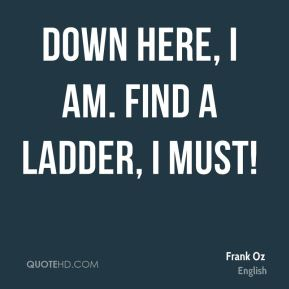 Down here, I am. Find a ladder, I must!