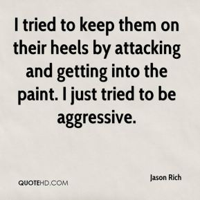 I tried to keep them on their heels by attacking and getting into the paint. I just tried to be aggressive.