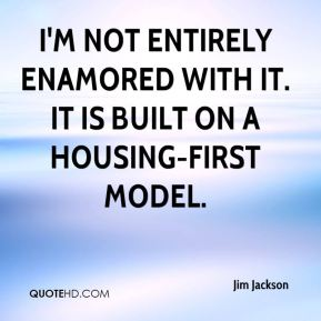 I'm not entirely enamored with it. It is built on a housing-first model.