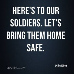 Mike Dirnt  - Here's to our soldiers. Let's bring them home safe.