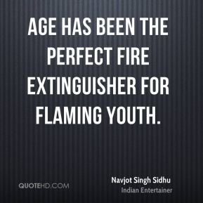 Age has been the perfect fire extinguisher for flaming youth.
