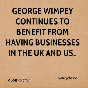 Peter Johnson  - George Wimpey continues to benefit from having businesses in the UK and US.