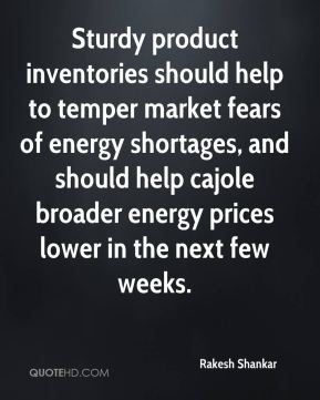 Sturdy product inventories should help to temper market fears of energy shortages, and should help cajole broader energy prices lower in the next few weeks.