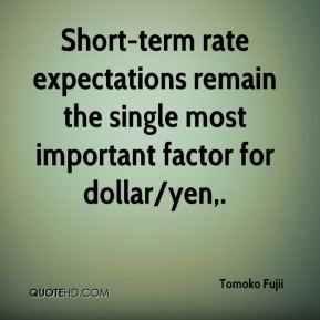 Short-term rate expectations remain the single most important factor for dollar/yen.
