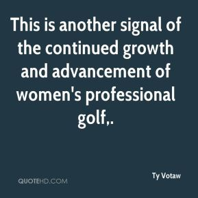 This is another signal of the continued growth and advancement of women's professional golf.