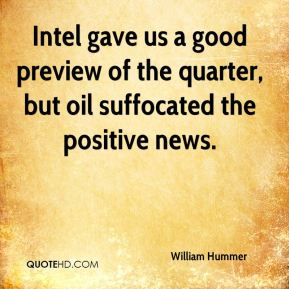 Intel gave us a good preview of the quarter, but oil suffocated the positive news.