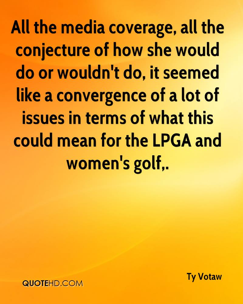 All the media coverage, all the conjecture of how she would do or wouldn't do, it seemed like a convergence of a lot of issues in terms of what this could mean for the LPGA and women's golf.