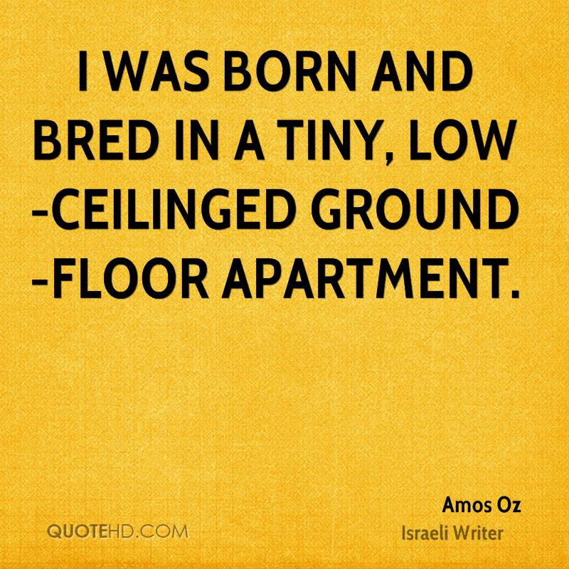 I was born and bred in a tiny, low-ceilinged ground-floor apartment.