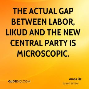 The actual gap between Labor, Likud and the new central party is microscopic.