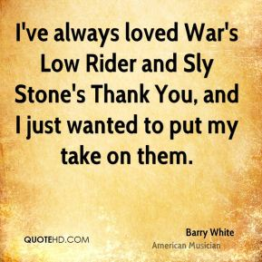 I've always loved War's Low Rider and Sly Stone's Thank You, and I just wanted to put my take on them.