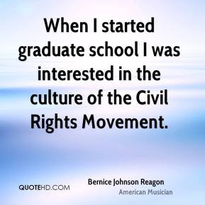 When I started graduate school I was interested in the culture of the Civil Rights Movement.