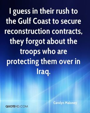 I guess in their rush to the Gulf Coast to secure reconstruction contracts, they forgot about the troops who are protecting them over in Iraq.