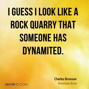 I guess I look like a rock quarry that someone has dynamited.