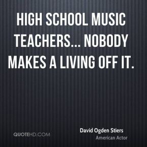 High school music teachers... nobody makes a living off it.