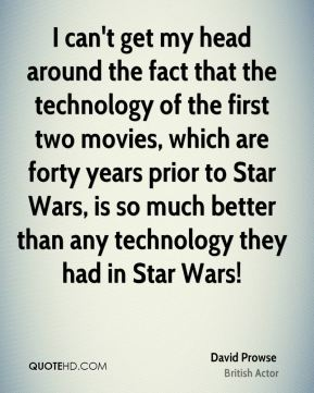 I can't get my head around the fact that the technology of the first two movies, which are forty years prior to Star Wars, is so much better than any technology they had in Star Wars!