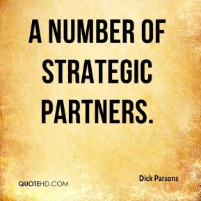 a number of strategic partners.