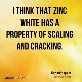 I think that zinc white has a property of scaling and cracking.