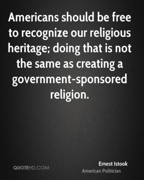 Americans should be free to recognize our religious heritage; doing that is not the same as creating a government-sponsored religion.