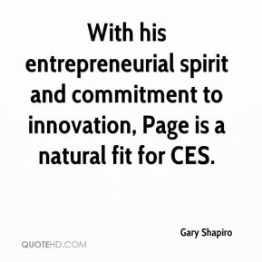 With his entrepreneurial spirit and commitment to innovation, Page is a natural fit for CES.