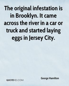 George Hamilton - The original infestation is in Brooklyn. It came across the river in a car or truck and started laying eggs in Jersey City.